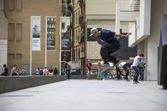 Street skater in Barcelona, Spain Stock Photography