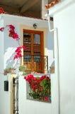 Street of skiathos Town. Typical  Greek Street view from Skiathos Town Royalty Free Stock Photo