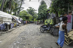 Street in slums Royalty Free Stock Photography