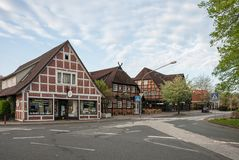 Street in small German town Stock Photography