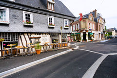 Street a small provincial town Etretat in France Royalty Free Stock Images