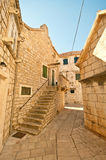 Street in the small town in Croatia Stock Images