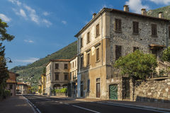 Street of a small town on Lake Iseo Stock Image