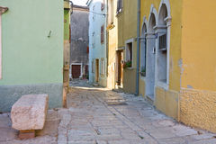 Street in the small town Vodnjan royalty free stock images