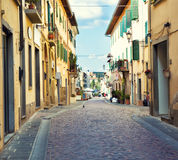 Street in small Tuscany town. Typical street in small Tuscany town. Italy Royalty Free Stock Image