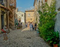 Street in the small village of Calcata Stock Photo