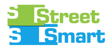 Street Smart Green Blue Abstract Stripes Royalty Free Stock Image