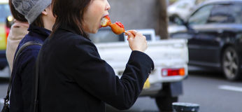 Street snack Royalty Free Stock Photography