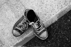 Street Sneakers Stock Photography