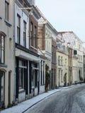 Street with snow Stock Photos