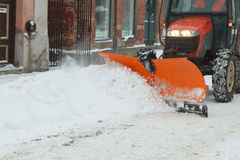 Street snow clearing Royalty Free Stock Image