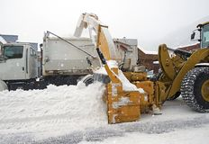 Street Snow Removal Stock Image