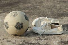 Street soccer equipment Stock Image