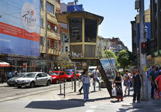 Street in Sofia town. Bulgaria Stock Images