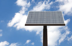 Street solar panel and blue sky Royalty Free Stock Photography