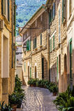 Street in Soller, Mallorca Royalty Free Stock Photos