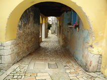 Street somewhere in Rovinj. A lovely street in the old town of Rovinj Royalty Free Stock Photos
