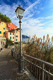 Street in Sori, Italy. Promenade in Sori, small villlage in Liguria, Italy Stock Photo