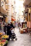 Street of Sorrento Italy. Street of Sorrento in the Amalfi Coast Italy royalty free stock photography