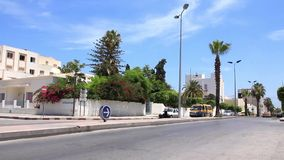 Street in the Sousse, Tunisia stock video
