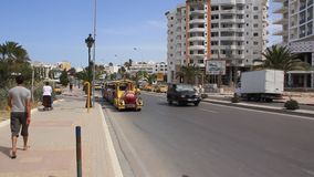 In the street of Sousse, Tunisia stock video footage