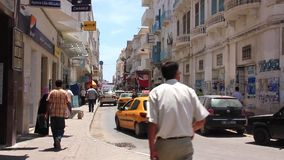 Street in Sousse, Tunisia stock video