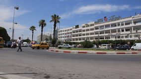 Street in the Sousse, Tunisia stock footage