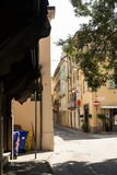 Street in south of city. Salsomaggiore Italy Stock Images