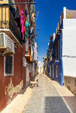 Street in the South of Spain. Colorful street in the old town of La Vila Joiosa royalty free stock photo