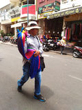 Street Souvenirs Seller in Saigon, Ho Chi Minh, Vietnam Royalty Free Stock Image
