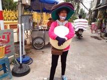 Street Souvenirs Seller in Saigon, Ho Chi Minh, Vietnam Stock Image