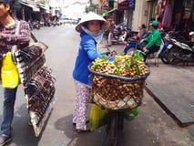 Street Souvenirs Seller in Saigon, Ho Chi Minh, Vietnam Stock Photos