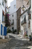 Street in Spain. A back street in the town of Cadaques, Spain royalty free stock photo