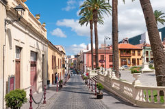 Street in Spain, La Orotava, Canary islands royalty free stock photography