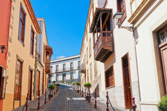 Street in Spain, La Orotava, Canary islands Stock Photos