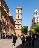 Street in spanish city. Murcia Royalty Free Stock Image