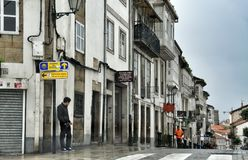 Street of the Spanish city of Oviedo province of Asturias Stock Photography