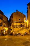 Street at spanish town in night Royalty Free Stock Images