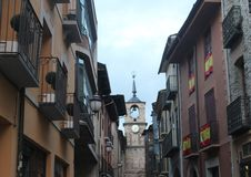 Street of spanish village royalty free stock photography