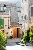 Street in spanish village Valldemossa Stock Images