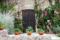 street in spanish village Valldemossa Stock Photo
