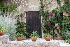 street in spanish village Valldemossa Stock Photo