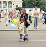 Street spectators stock photo