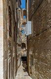 Street in Split, Croatia. Narrow street in Splitr old town, Croatia Royalty Free Stock Images