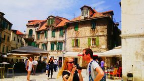 Street in Split. This photo is from Split in Croatia Royalty Free Stock Photography