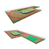 Street Sport Fields 3D Model Stock Photos
