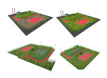 Street Sport Fields 3D Model Stock Image