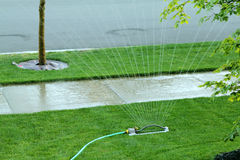 Street sprinkler Royalty Free Stock Photography