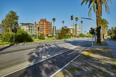 Street in St Kilda, Melbourne Royalty Free Stock Image