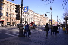 Street of St. Petersburg. View of this beautiful russian city Royalty Free Stock Images